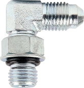 ADAPTER FITTINGS -4 TO 7/16-20 90 DEGREE 2PK