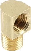 "1/8"" NPT TO 3/16 ADAPTER - 90 DEG, BRASS,4PK"