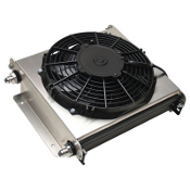 40 ROW REMOTE FLUID COOLER WITH FAN - 8AN, STACKED PLATE