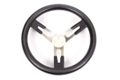 Aluminum Dished Steering Wheel by Sweet Mfg. - Large Grip