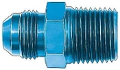 "#8 AN TO 3/8"" PIPE ADAPTER - STRAIGHT, ALUM"
