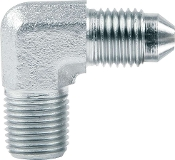 "#3 TO 1/8"" NPT ADAPTER - 90 DEG, STEEL"