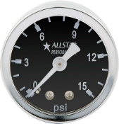 FUEL PRESSURE GAUGE - 0-15 PSI DRY