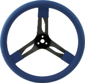 "15"" STEEL STEERING WHEEL - QUICKCAR 3 SPOKE"