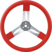 "15"" ALUMINUM STEERING WHEEL - QUICKCAR 3 SPOKE"