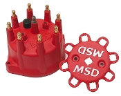 MSD RED DISTRIBUTOR CAP - CHEVY V8 HEI