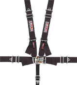 G-FORCE 5 POINT HARNESS w/ IND SHOULDER - RED, BLUE OR BLACK