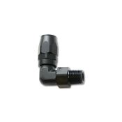 ADAPTER - #8 AN HOSE TO 3/8 NPT MALE, 90 DEG, BLACK