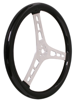 "LIGHTWEIGHT 15 INCH STEERING WHEEL - 2.5"" DISH, RUBBER GRIP"