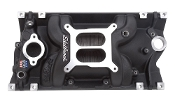 SBC PERFORMER EPS MANIFOLD - BLACK FINISH