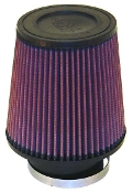 "K&N AIR FILTER - CONE, 3 1/2"" FLANGE, 6"" TALL"